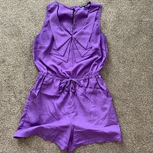 Purple Romper - size small
